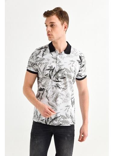 Avva Erkek  Polo Yakalı Baskılı Tişört A01S1207 Siyah
